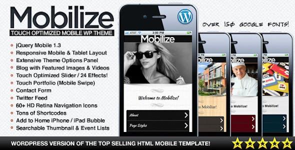 mobilize mobil uyumlu wordpress teması
