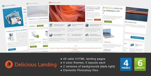 Delicious Landing - Landing Pages Marketing