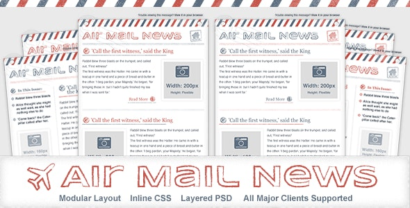 Air Mail News - Newsletter Email Template - Newsletters Email Templates