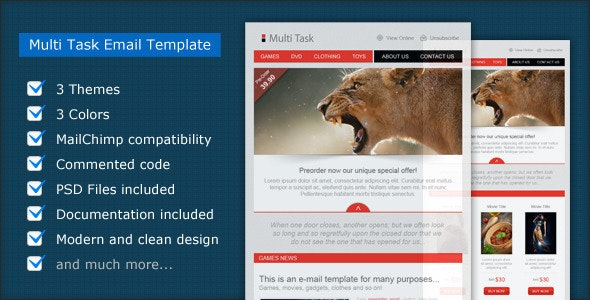 Multi Task - Email Template - Email Templates Marketing