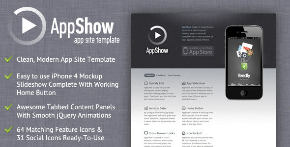 AppShow - Clean App Site Template - Apps Technology