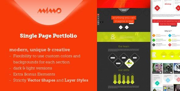 Mimo Single Page Portfolio - Portfolio Creative