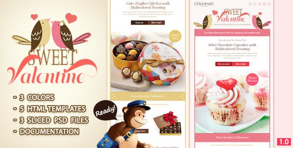 Sweet Valentine - Email Template