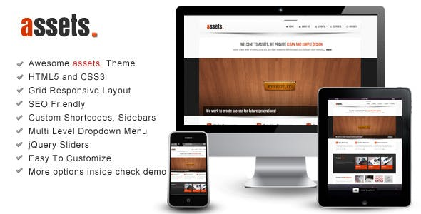 assets – Responsive HTML Template