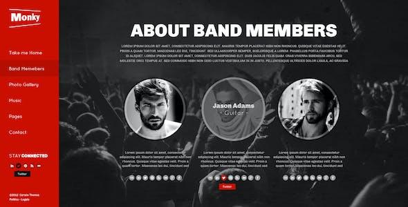 Monkey-Music Band Responsive Template