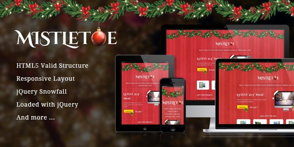MistleToe - A Christmas Special Landing Page - Shopping Retail