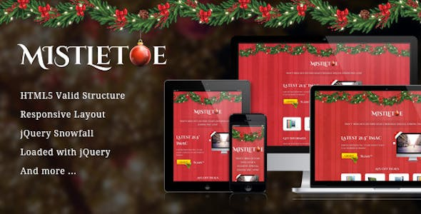 MistleToe - A Christmas Special Landing Page