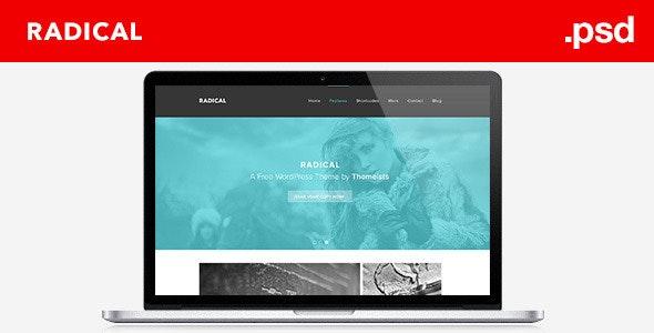 Radical - Single Page PSD Template - Corporate Photoshop