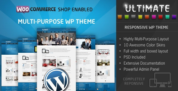 Ultimate Multipurpose WP Theme - Business Corporate