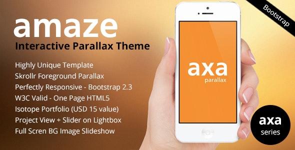 AMAZE - Interactive Parallax - Responsive HTML5 - Portfolio Creative
