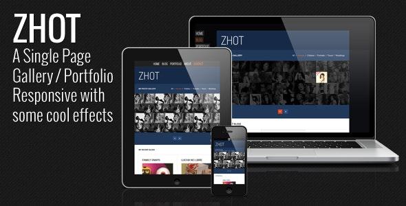 ZHOT Responsive HTML Gallery & Portfolio Blog - Photography Creative