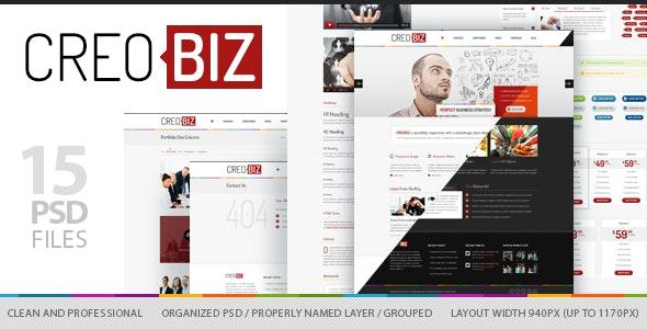 CreoBIZ - Corporate / Creative PSD Template - Business Corporate