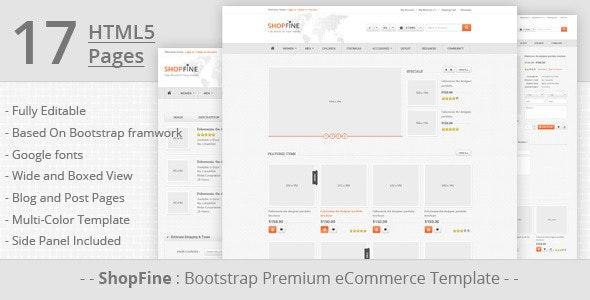 ShopFine: Premium Bootstrap eCommerce Template - Shopping Retail