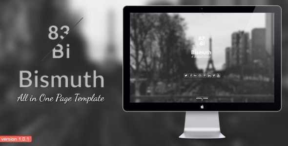 Bismuth : All in One Responsive Template - Portfolio Creative