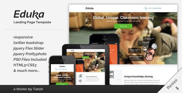 Eduka Responsive HTML Landing Page Template - Business Corporate