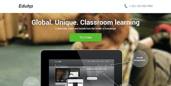 Eduka Responsive HTML Landing Page Template