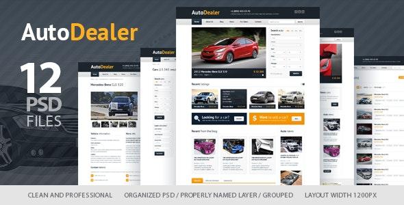 Auto Dealer - Car Dealer PSD Template - Retail Photoshop