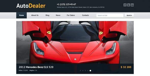 Auto Dealer - Car Dealer PSD Template