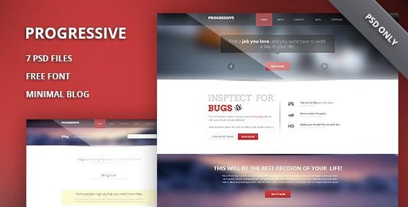 Progressive - Modern Portfolio PSD Template - Portfolio Creative