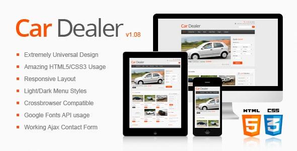 Car Dealer Responsive HTML5/CSS3 Template - Business Corporate