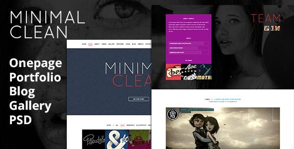 Minimal Clean - Portfolio, Blog, Gallery - Photoshop UI Templates