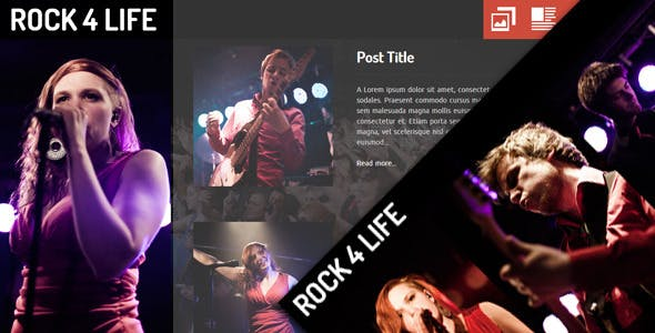 Rock4Life- Responsive Template for Bands/Musicians