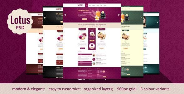 Lotus - Spa & Wellness PSD Template - Miscellaneous Photoshop
