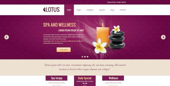 Lotus - Spa & Wellness PSD Template