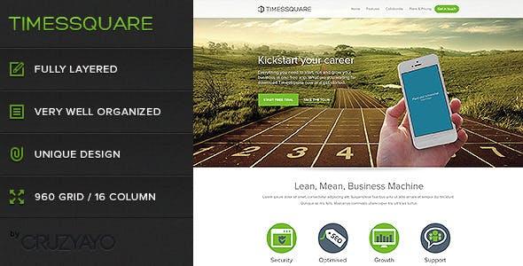 Timessquare - Premium PSD Landing Page