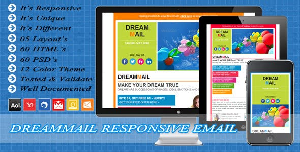 DreamMail - Responsive Email Template