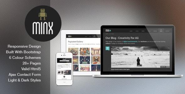 Minx - Responsive HTML5 Template  - Portfolio Creative