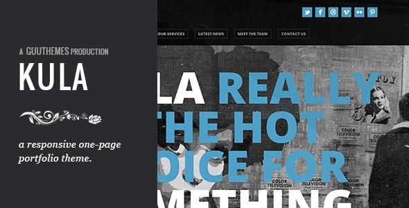KULA - Responsive HTML5 One Page Theme - Portfolio Creative