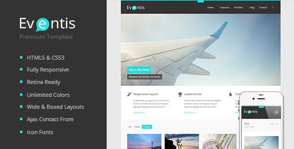 Eventis - Responsive HTML5 Template - Creative Site Templates