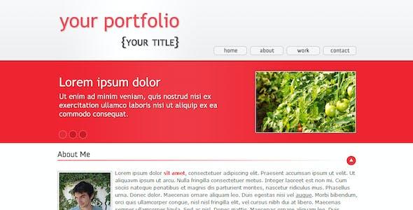 Domates - One Page Portfolio