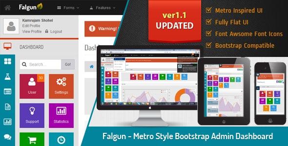 Falgun - Metro Style Bootstrap Admin Dashboard - Admin Templates Site Templates