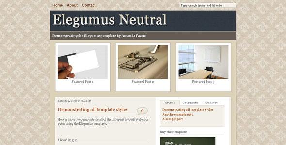 Elegumus Business Theme Package for Blogger - Blogger Blogging