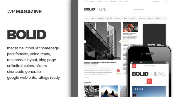 Bolid - Responsive News, Magazine and Blog Theme - Blog / Magazine WordPress