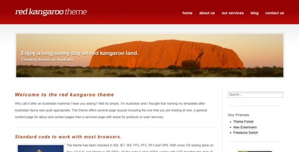 Red Kangaroo - Miscellaneous Site Templates