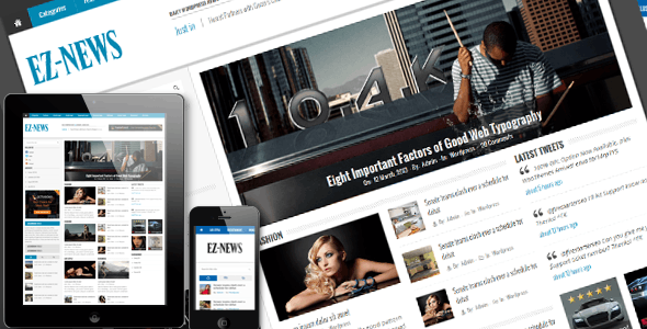 EZ-News HTML5 Template - Corporate Site Templates
