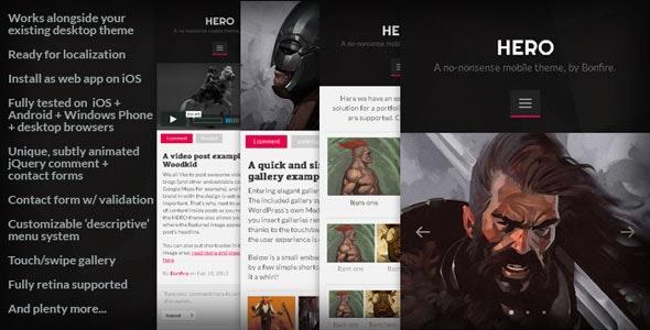 HERO: A No-Nonsense Mobile WordPressTheme - Mobile WordPress