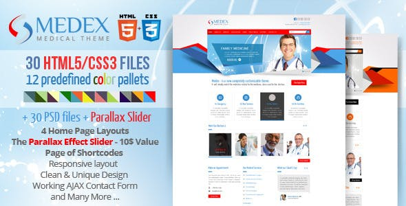 Medex - Medical, Doctor and Health care Responsive