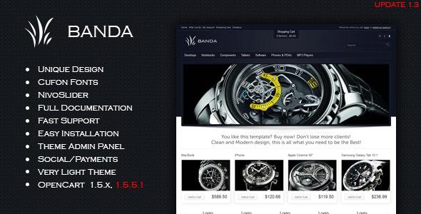 Banda - Modern Shop - OpenCart eCommerce