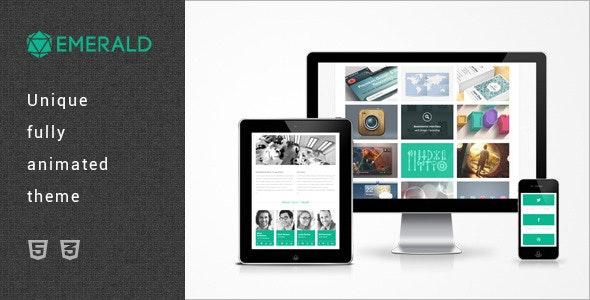 Emerald - Single Page HTML5/CSS3 Portfolio Theme - Portfolio Creative