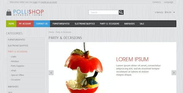 Pollishop - OpenCart Theme