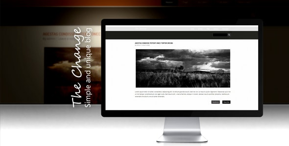 The Change - WP  - Personal Blog / Magazine