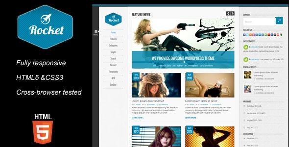 Rocket Magazine HTML5 Template - Corporate Site Templates