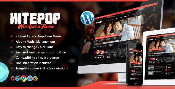Nite Pop - Music Band/Artist WordPress Theme - Music and Bands Entertainment