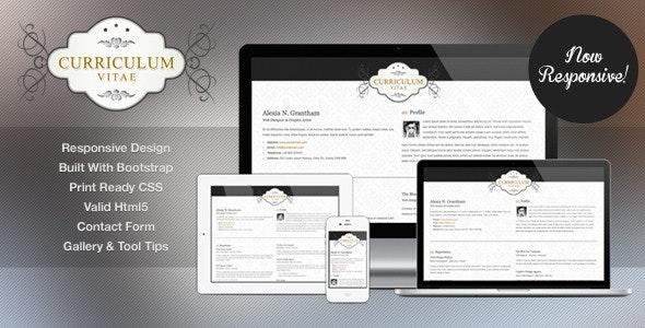 Retro Elegance - CV / Resume Html Template - Resume / CV Specialty Pages