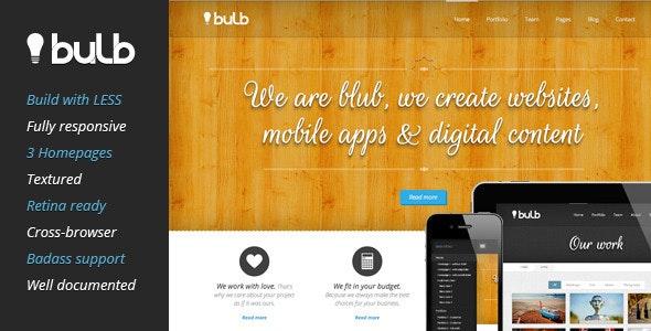 Bulb Responsive HTML Template - Creative Site Templates
