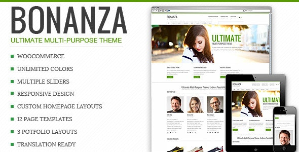 Bonanza - Responsive Multi-Purpose WordPress Theme - WooCommerce eCommerce